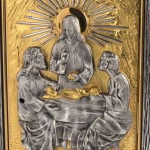 Tabernacle relief Dernière Cène en bronze s2