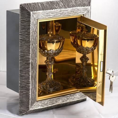 Tabernacle relief Dernière Cène en bronze s7