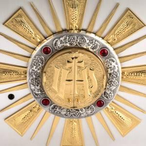Tabernacolo da altare in bronzo fuso finestrelle per adorazione s2