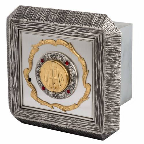 Tabernacolo IHS ottone, immagine bronzo s1