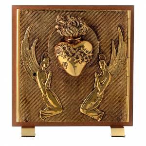 Tabernacoli: Tabernacolo legno similradica fusione ottone Esposizione S. Cuore
