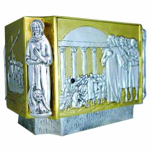 Tabernacolo ottone fuso Gesù discepoli bambini s2