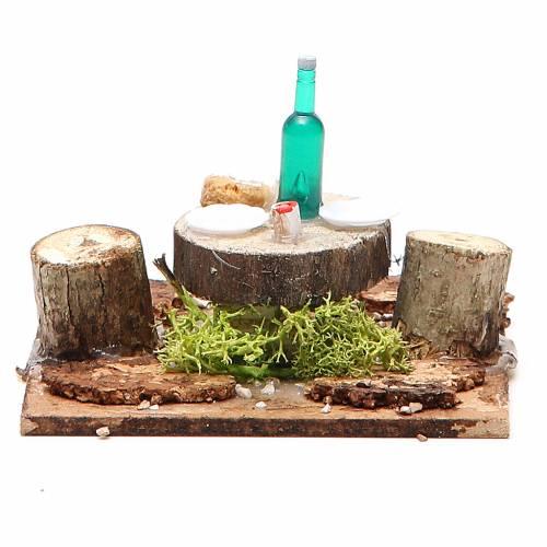 Table en bois sur base pour crèche 2,5x9x9 cm modèles assortis s1