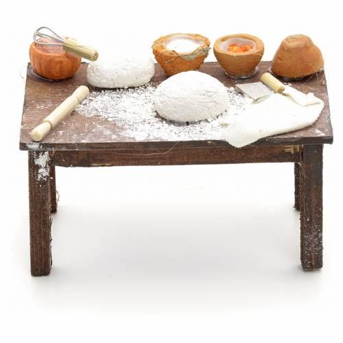 Table pain en miniature crèche Napolitaine 12 cm s1