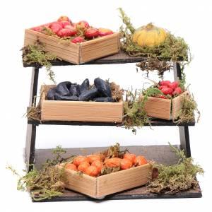 Crèche Napolitaine: Étagère de fruits et légumes bricolage crèche napolitaine