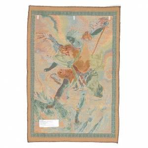 Tapisseries religieuses: Tapisserie Saint Michel archange de Reni 65x45 cm