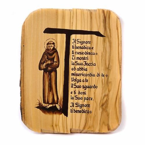 Tau bénédiction, Saint Frncesco, bois d'olivi 16x19 1
