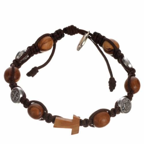 Tau cross bracelet with medals s5