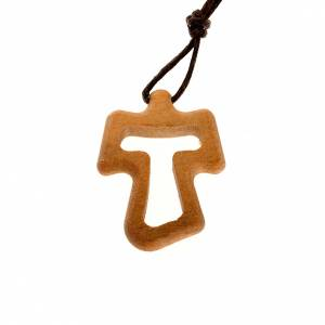 Tau cross pendants: Tau from Assisi, carved