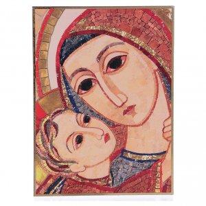 Tavola stampa Rupnik Volto di Maria 10x15 cm s1