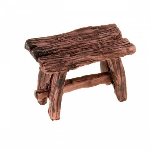 Super Tavolo in resina color legno per presepe: miniature per presepe  EJ27