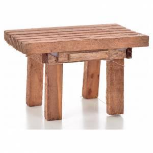 Accessori presepe per casa: Tavolo legno 8,5 x 6 x 5,5 cm