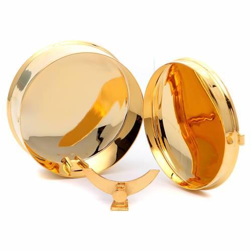 STOCK Teca portaostie ottone dorato diam 9 cm con lunetta s3
