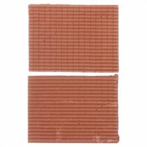 Accessori presepe per casa: Tetto 5x5 cm in resina set 2 pezzi