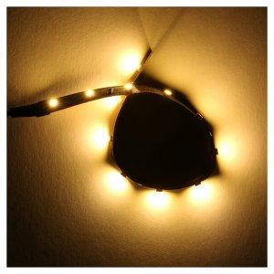 Tira de 12 LED cm. 0.8x16 cm. blanca caliente Frisalight s2
