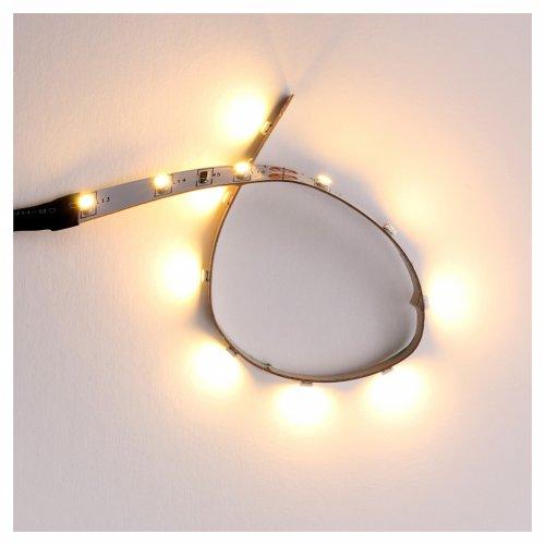 Tira de 12 LED cm. 0.8x16 cm. blanca caliente Frisalight s1