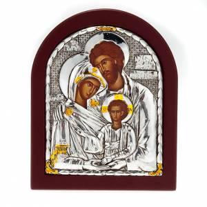 Holz, Stein gedruckte Ikonen: Tischikone mit Druck Heilige Familie