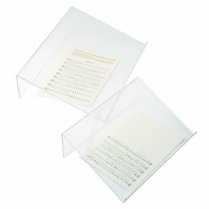 Tischpulte: Tischpult Plexiglas, 3 mm Dicke scharfe Kante