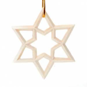 Décorations sapin bois et pvc: Étoile décorée en bois