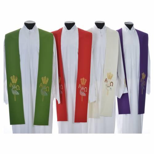 Étole de prêtre alpha oméga s1