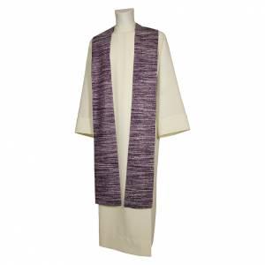 Étoles liturgiques: Étole franciscaine 55% soie 45% viscose 4 couleurs