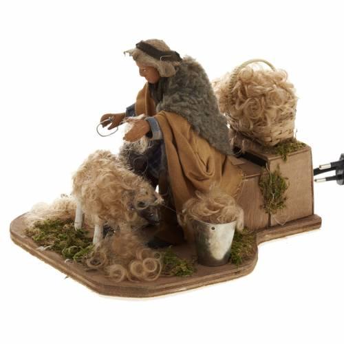 Tondeur de mouton animé 14 cm crèche Napolitaine s3