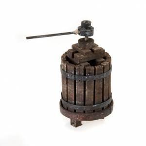 Presepe Napoletano: Torchio per vino in legno presepe fai da te