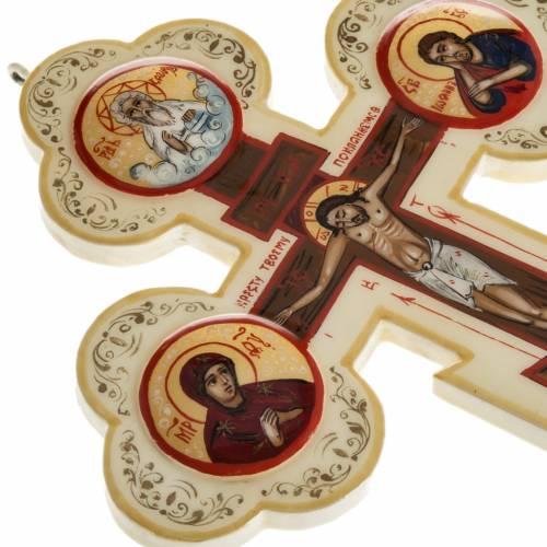 Trefoil cross icon, Mstjora, 17x13cm, Ivory colour s6