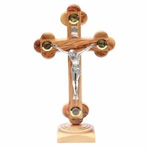 Trefoil table Cross palestinian wood 26cm s1