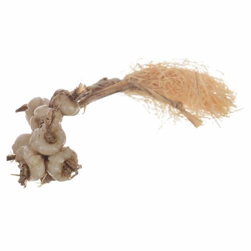Tresse d'ail en cire crèche 20-24 cm s1