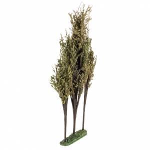 Trio de árboles para el pesebre de 16x3x32 cm s2