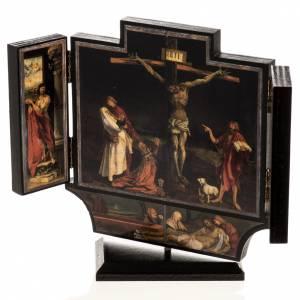 Tríptico altar de Isenheim madera estampada 21x30 con ba s6