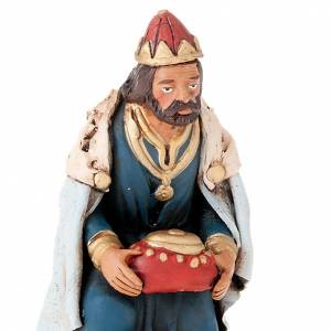 Trois rois Mages terre cuite 18 cm s2
