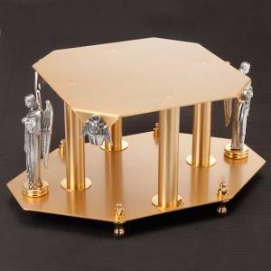 Bases pour ostensoir, trônes: Trône avec symboles des évangiles