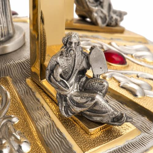 Tronetto ottone base bronzo 4 Evangelisti s5