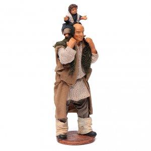 Uomo con bimbo sulle spalle 14 cm s3