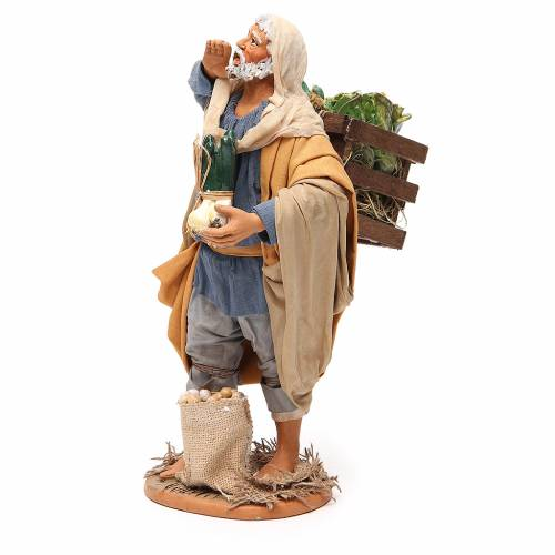Uomo con verdura 30 cm presepe napoletano s2