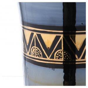 Urna funeraria ceramica nero oro lustri s5