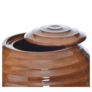 Urne funéraire porcelaine peinte main effet bois s2