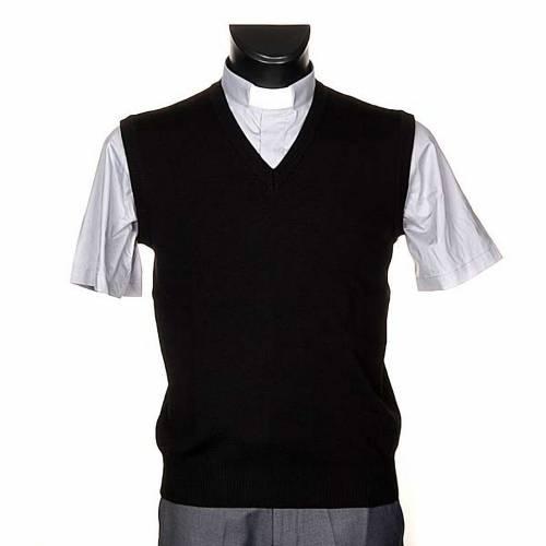 V-neck black waistcoat s1