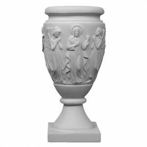 Vase funéraire pour fleurs Anges et Christ marbre synthétique s1