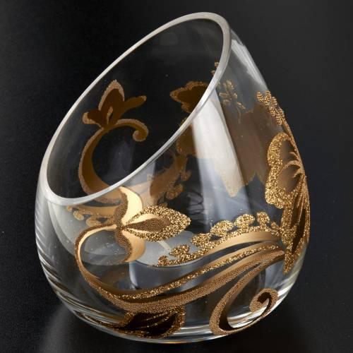 Vaso porta vela de Navidad en vidrio con tealight s2