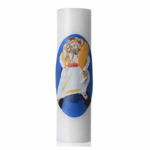 Velas, cirios, velones: STOCK Vela de altar Logo Jubileo Extraordinario de la Misericordia, cera blanca, diámetro 8 cm.