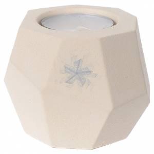 Vela Prisma Navidad arcilla Centro Ave 6,7 cm s1