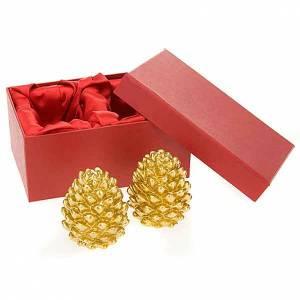 Velas navidad cono oro s3