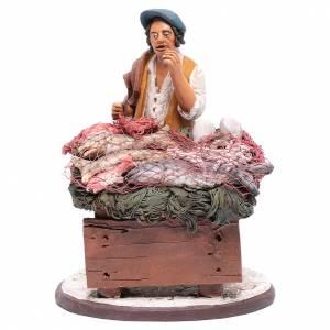 Presepe Terracotta Deruta: venditore pesce in terracotta presepe Deruta 18 cm