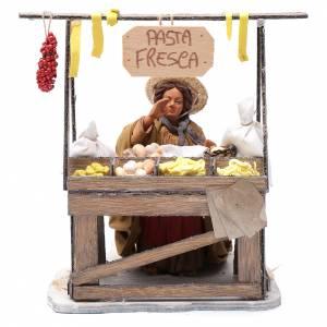 Venditrice pasta fresca al banco 24 cm presepe Napoli s1