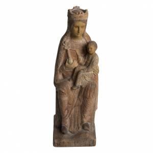Statue in legno dipinto: Vergine di Solsona 36 cm legno anticato Bethléem