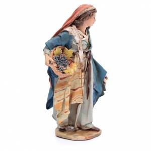 Krippenfiguren von Angela Tripi: Verkäuferin von Trauben und Getreiden 13cm Angela Tripi