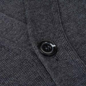 Vestes, gilets, pullovers: Veste en laine avec boutons, gris foncé